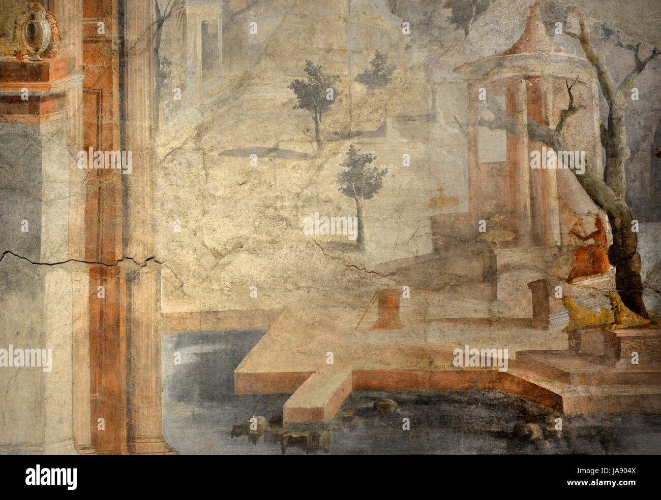 Frescos from the Ekklesiasterion of the Isis Temple of Pompeii Stock ...