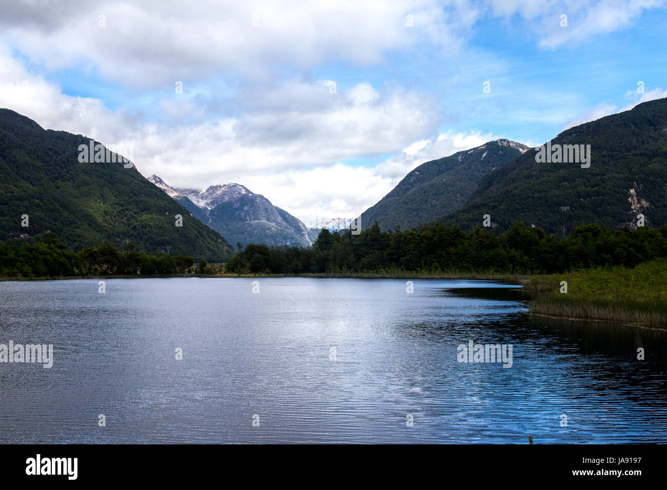 One of the beautifull lake on Carretera Austral - Stock Image