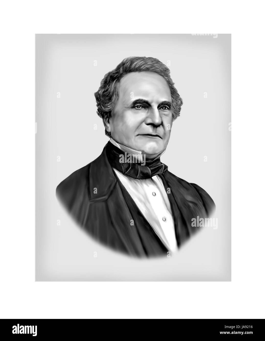Charles Babbage, 1791 - 1871, Mathematician, Mechanical Engineer, Polymath - Stock Image
