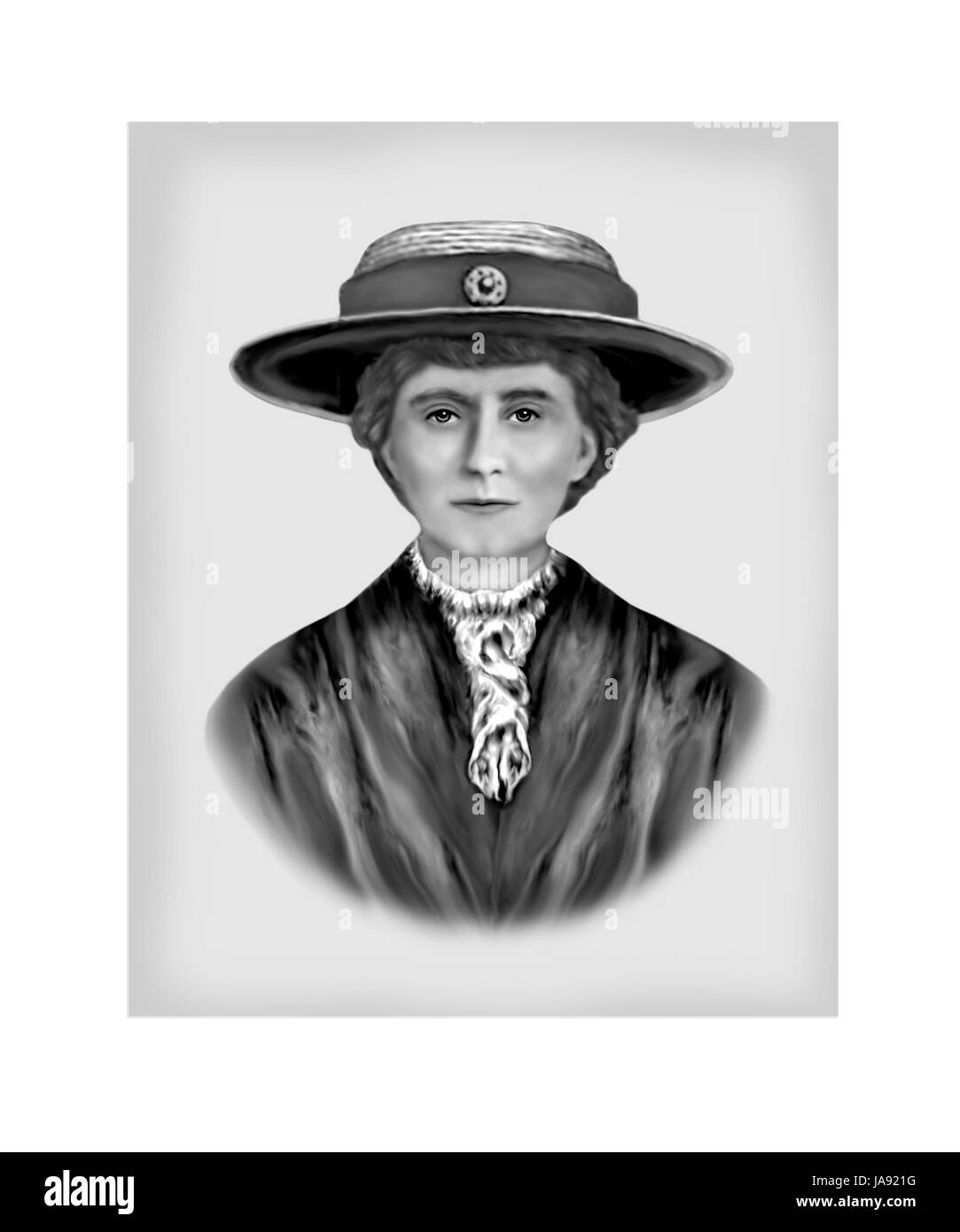 Emily Wilding Davison, 1872 - 1913, English Suffragette - Stock Image