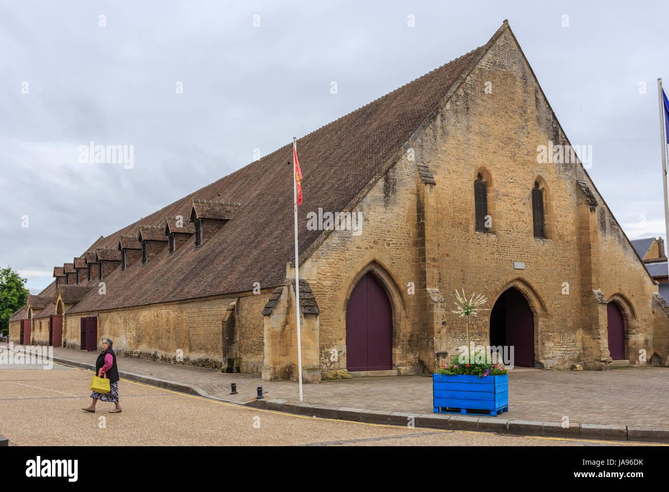 France, Calvados, Saint-Pierre sur-Dives, the halls Stock Photo