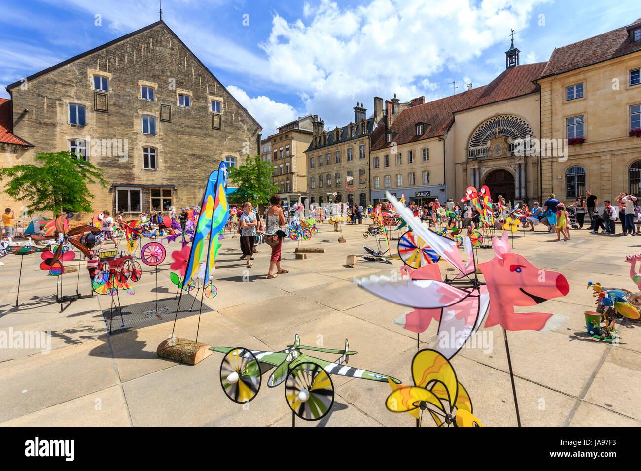 France, Franche Comte, Pontarlier, 15th Kite Festival, Arçon square Stock Photo