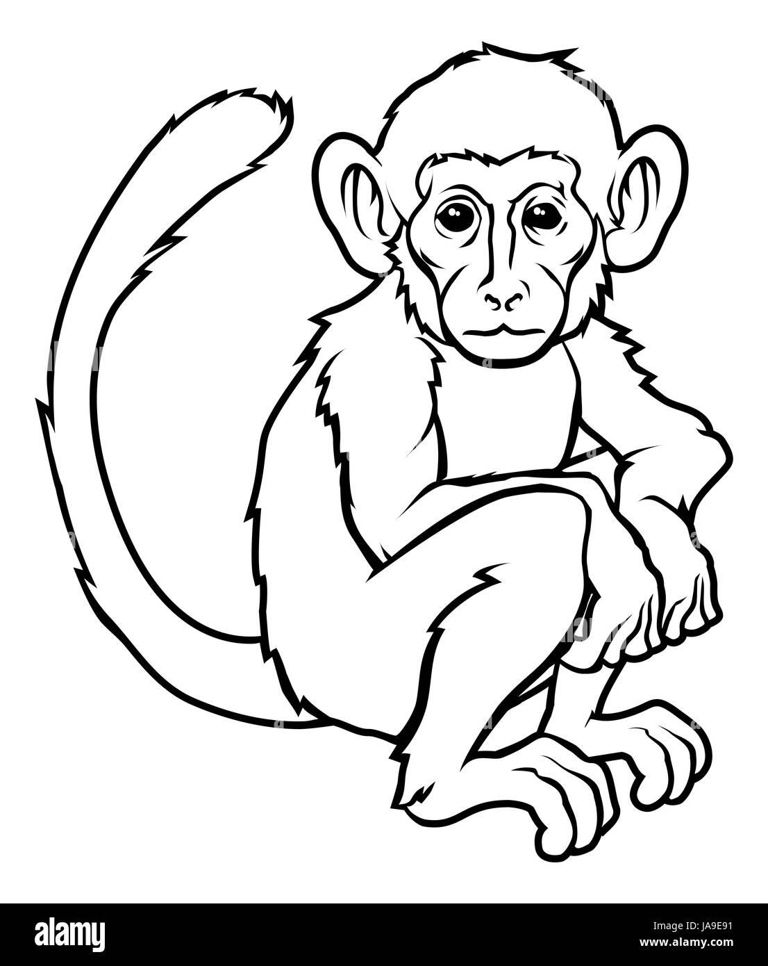 art, birth, childbirth, parturition, delivery, animal, new, monkey, black, - Stock Image