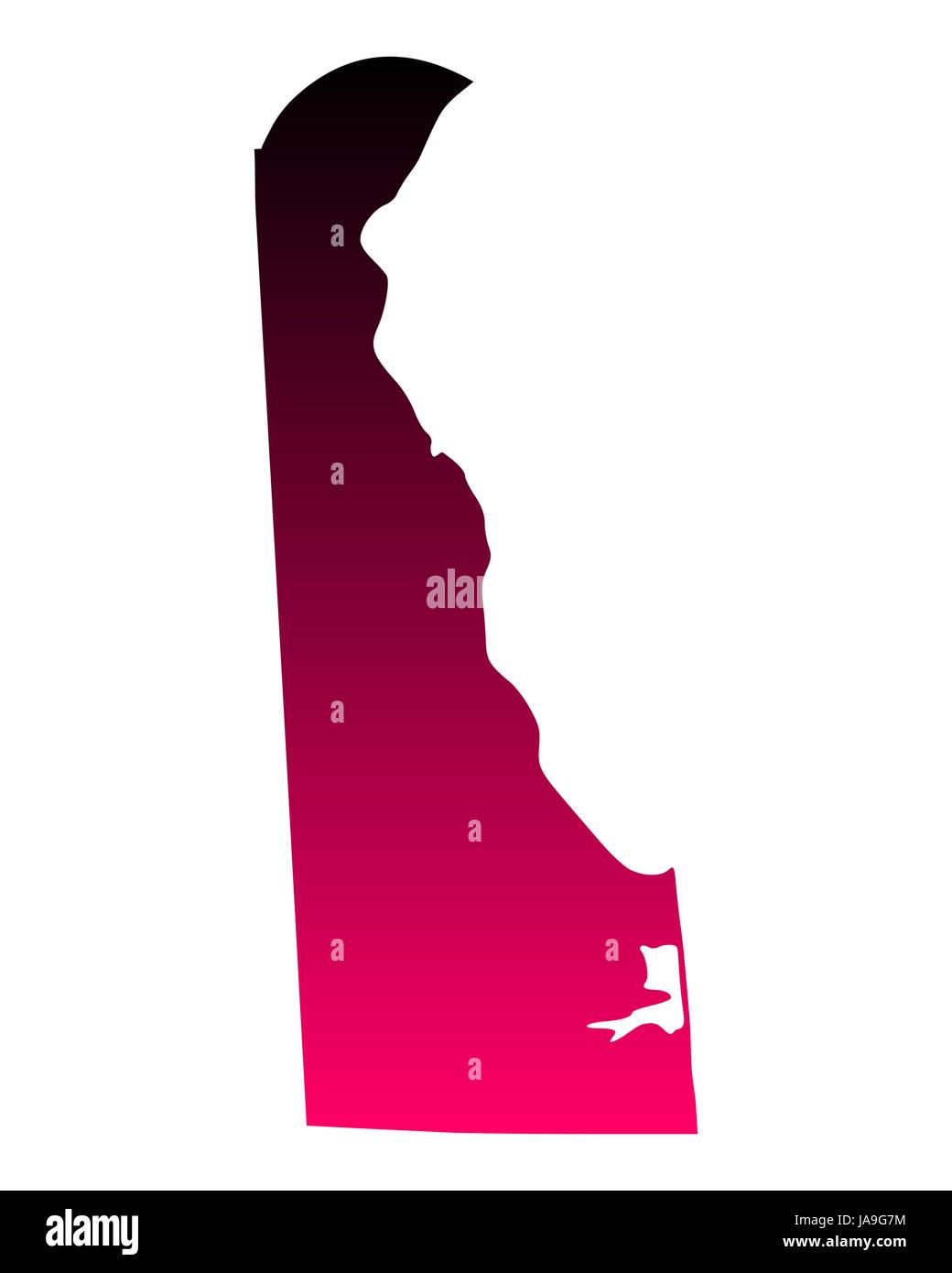 Karte von Delaware - Stock Image