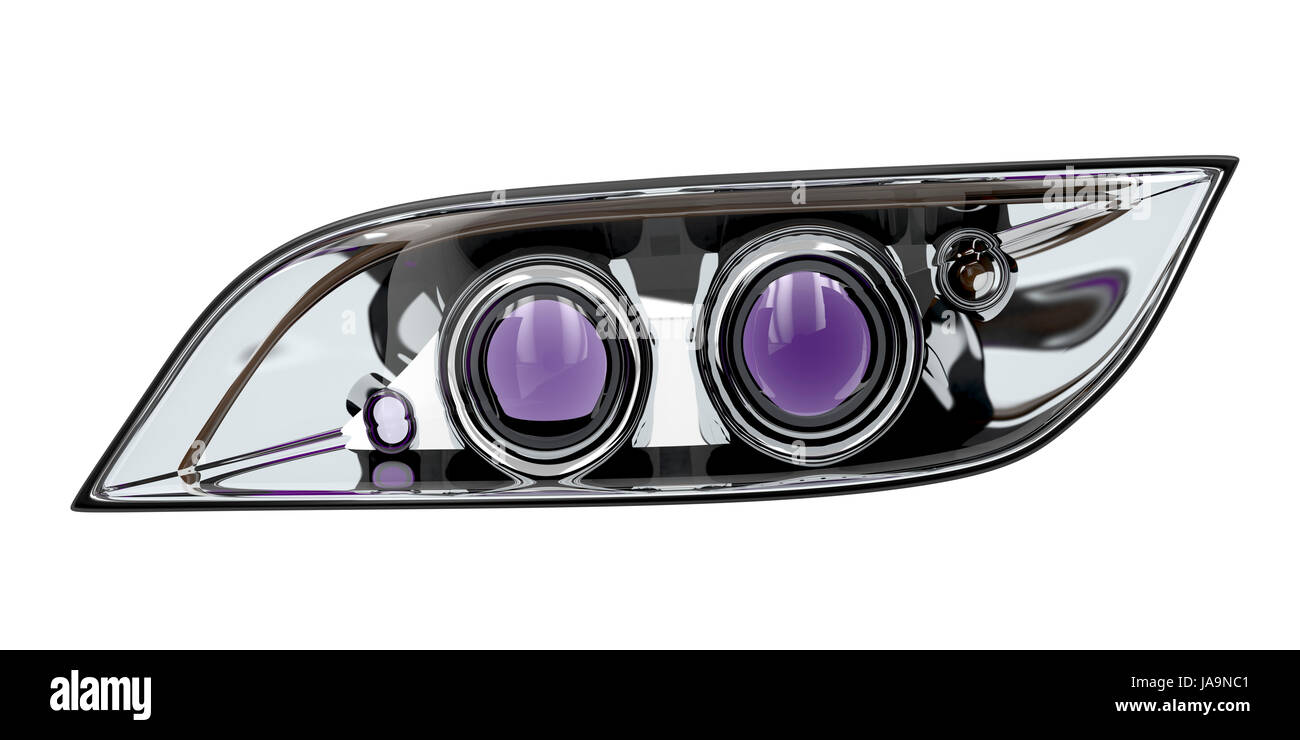 Xenon Headlight Cut Out Stock Images Pictures Alamy
