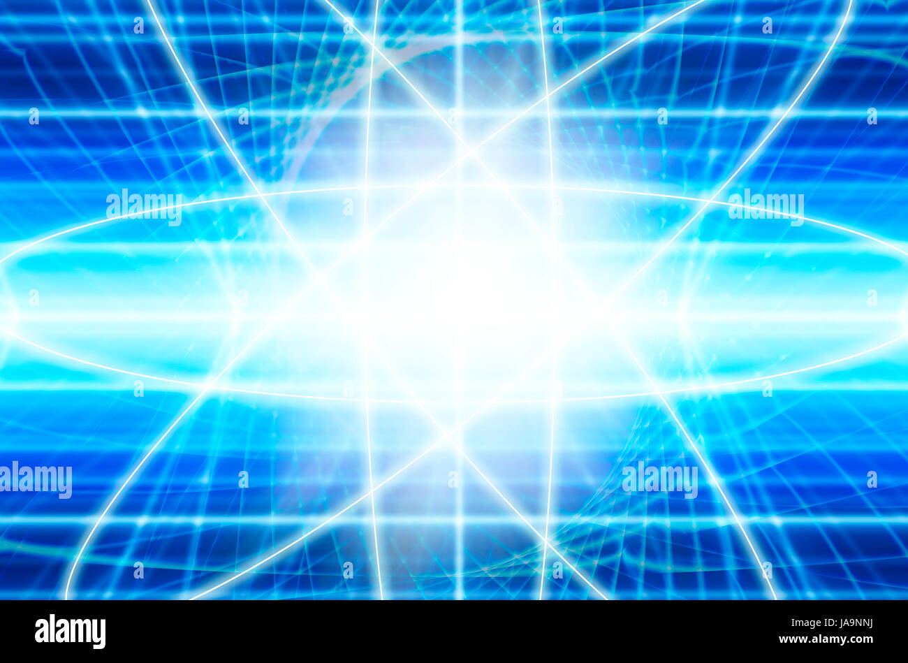 quantum physics and quantum computing concept - Stock Image