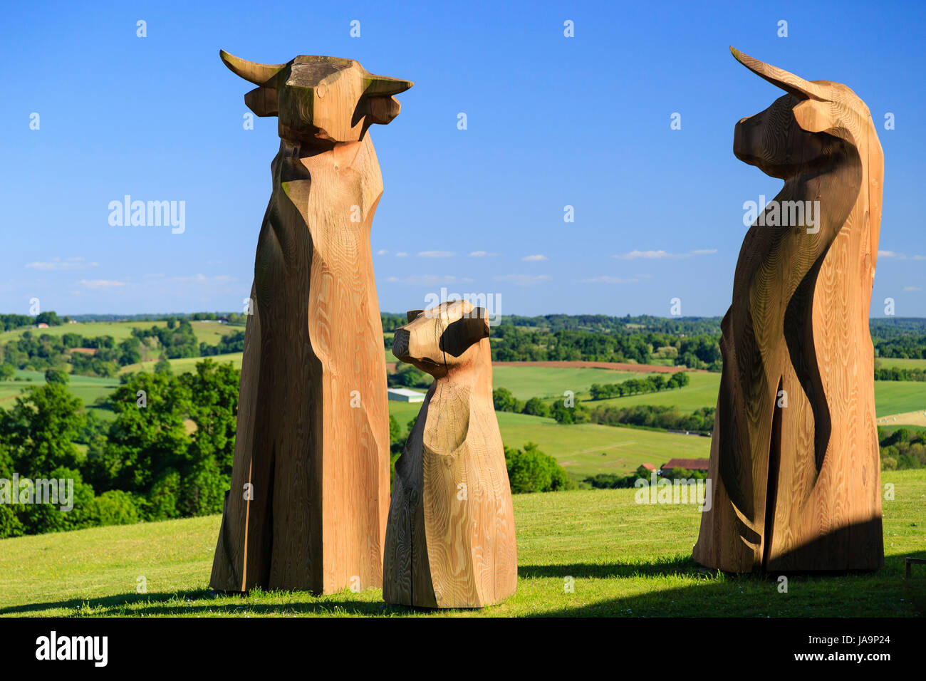 France, Haute Vienne, Boisseuil, Pole of Lanaud to promote the limousine breed - Stock Image