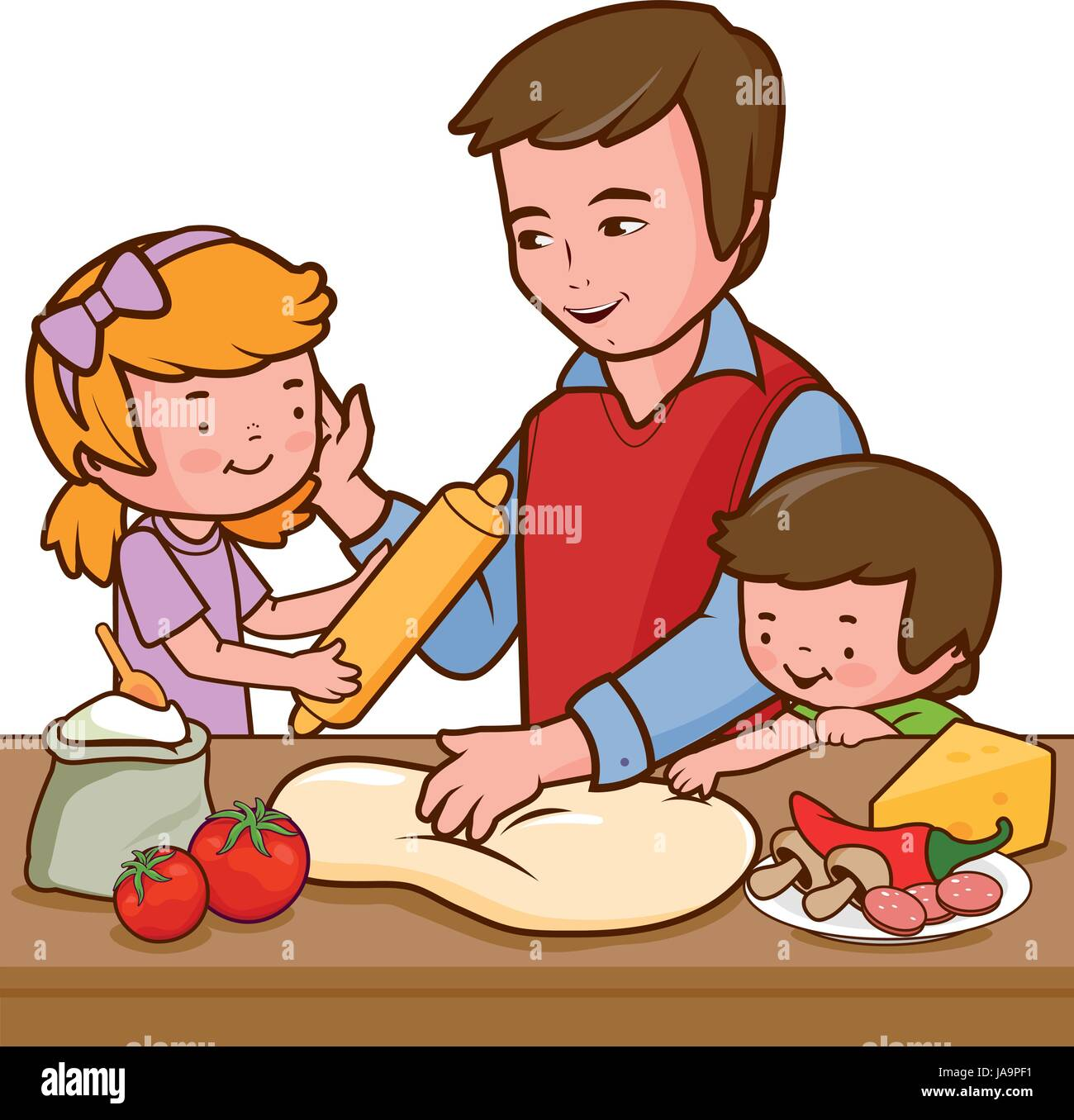 Group Of Cartoon Children Eating Pepperoni Pizza. Royalty Free Cliparts,  Vectors, And Stock Illustration. Image 109422164.