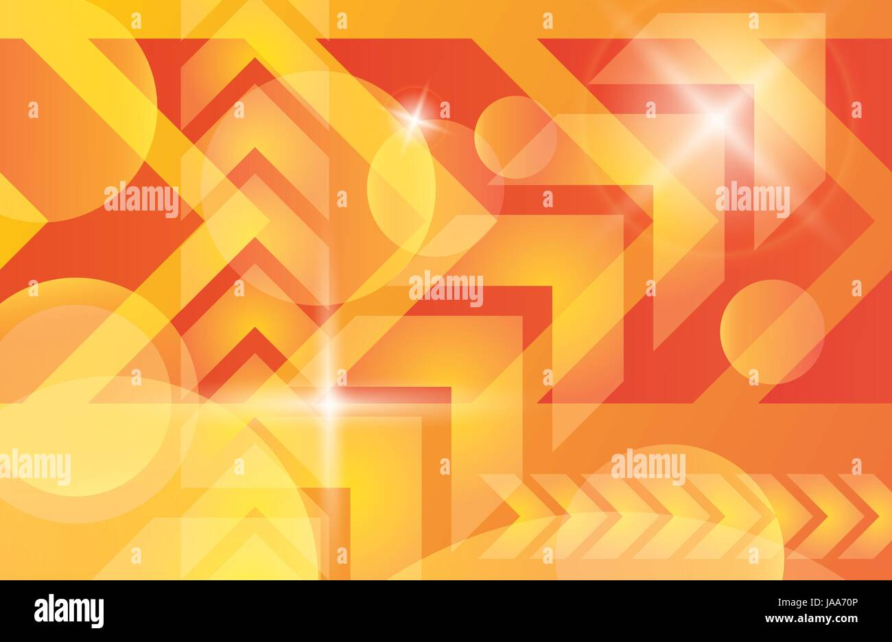 Red orange yellow arrows abstract futuristic vector background Stock ...