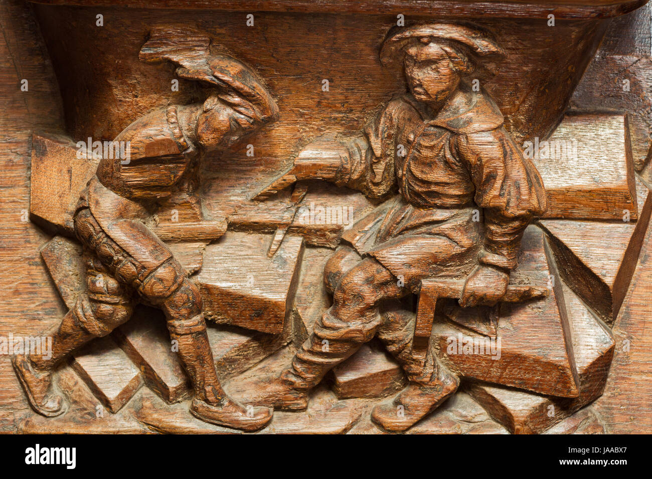 Stone cutter - Mason and apprentice - The Misericords of