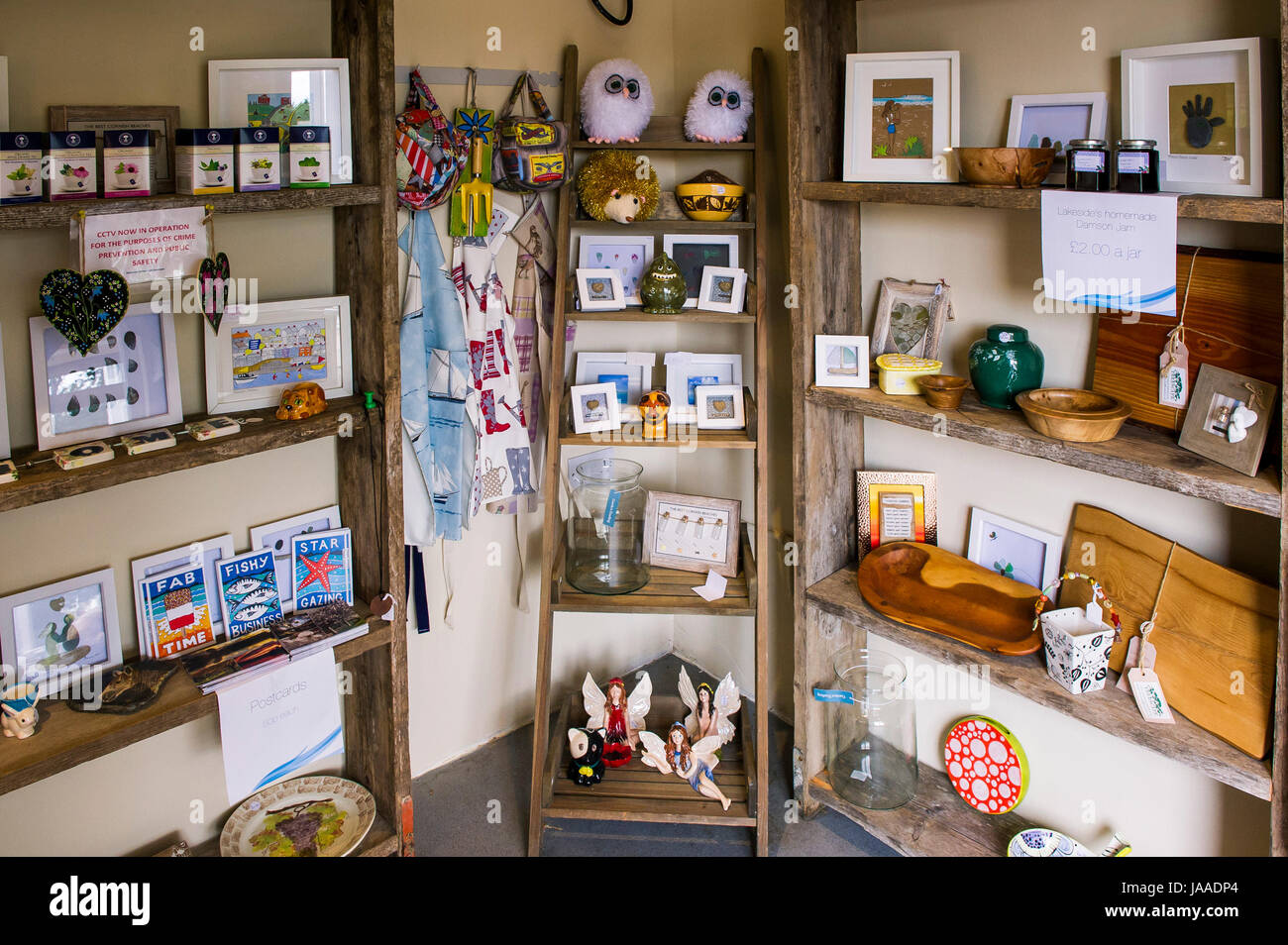 Gifts On Display In A Small Gift Shop Stock Photo 144059836