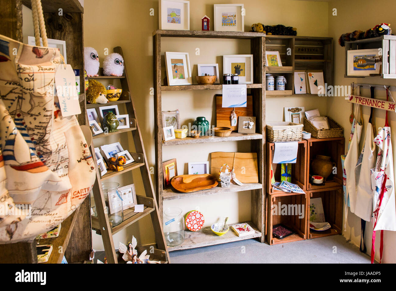Gifts on display in a small gift shop Stock Photo: 144059837 - Alamy