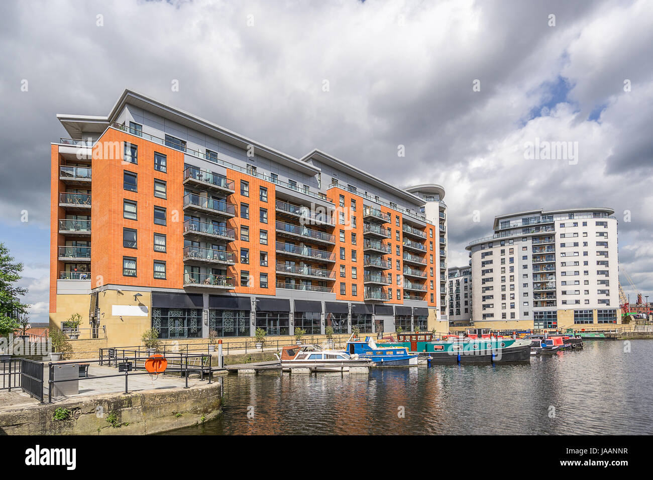 Leeds Dock formerly Clarence Dock in central Leeds - Stock Image