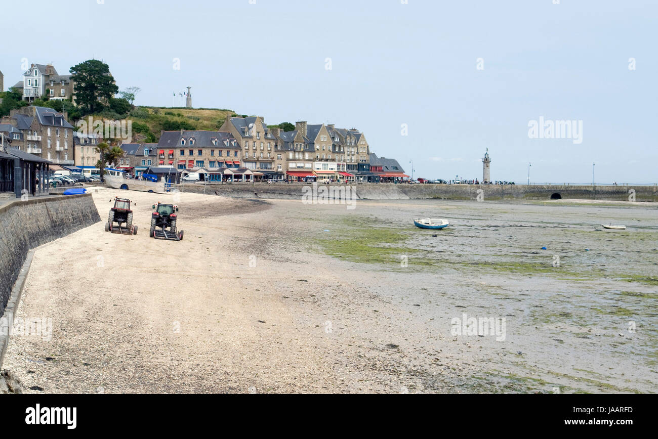 town in Brittany named Cancale Stock Photo