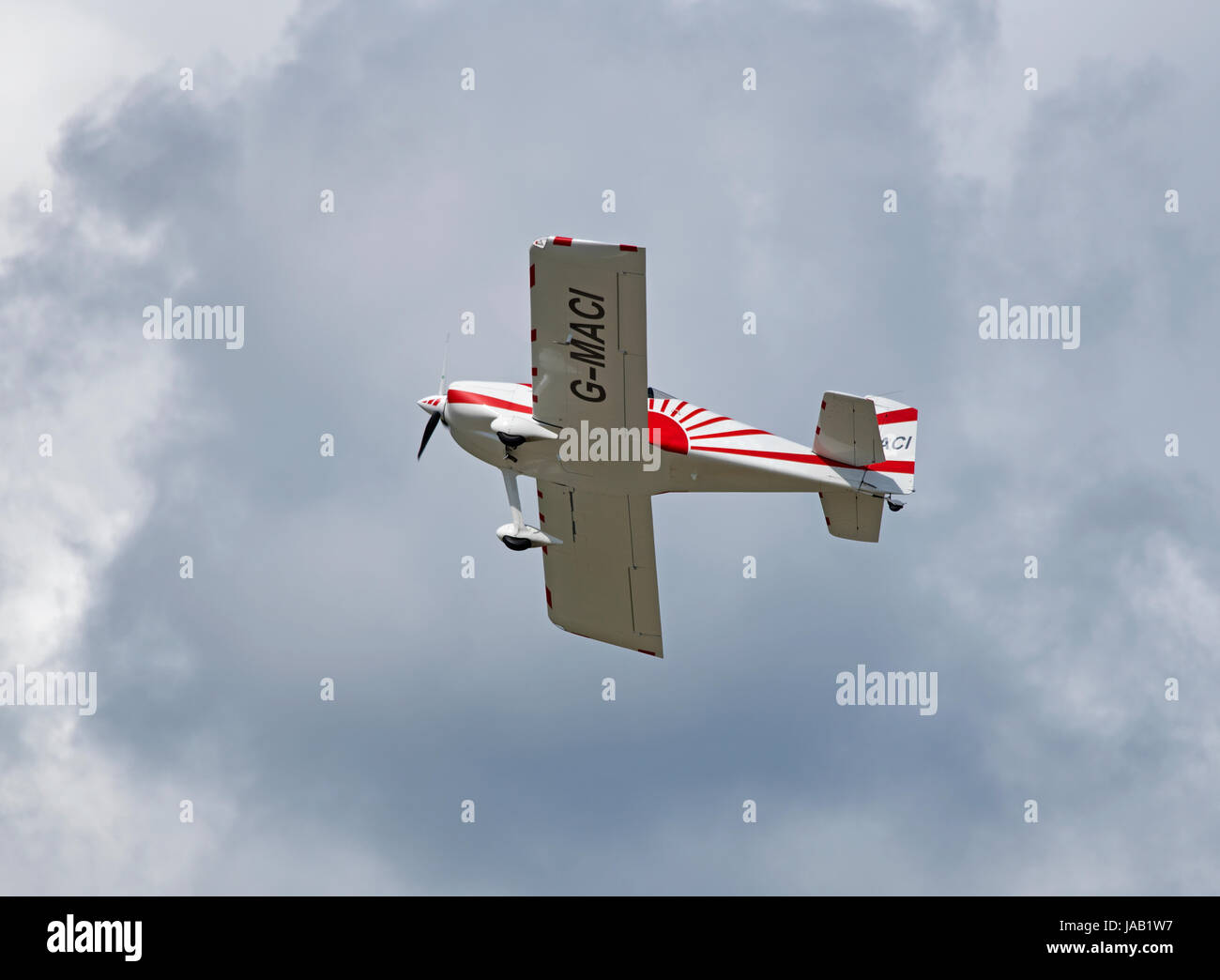 RV-7 Vans kit build aircraft departing its home base at Inverness Airport Scotland. - Stock Image