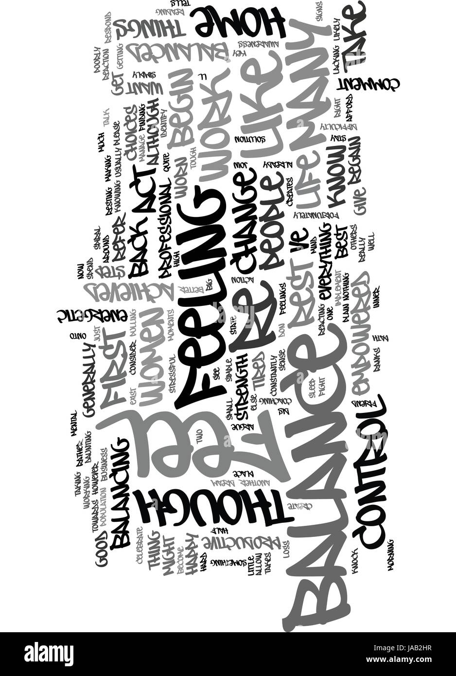 WHAT ARE THE SIGNS OF A LIFE OUT OF BALANCE TEXT WORD CLOUD CONCEPT - Stock Vector