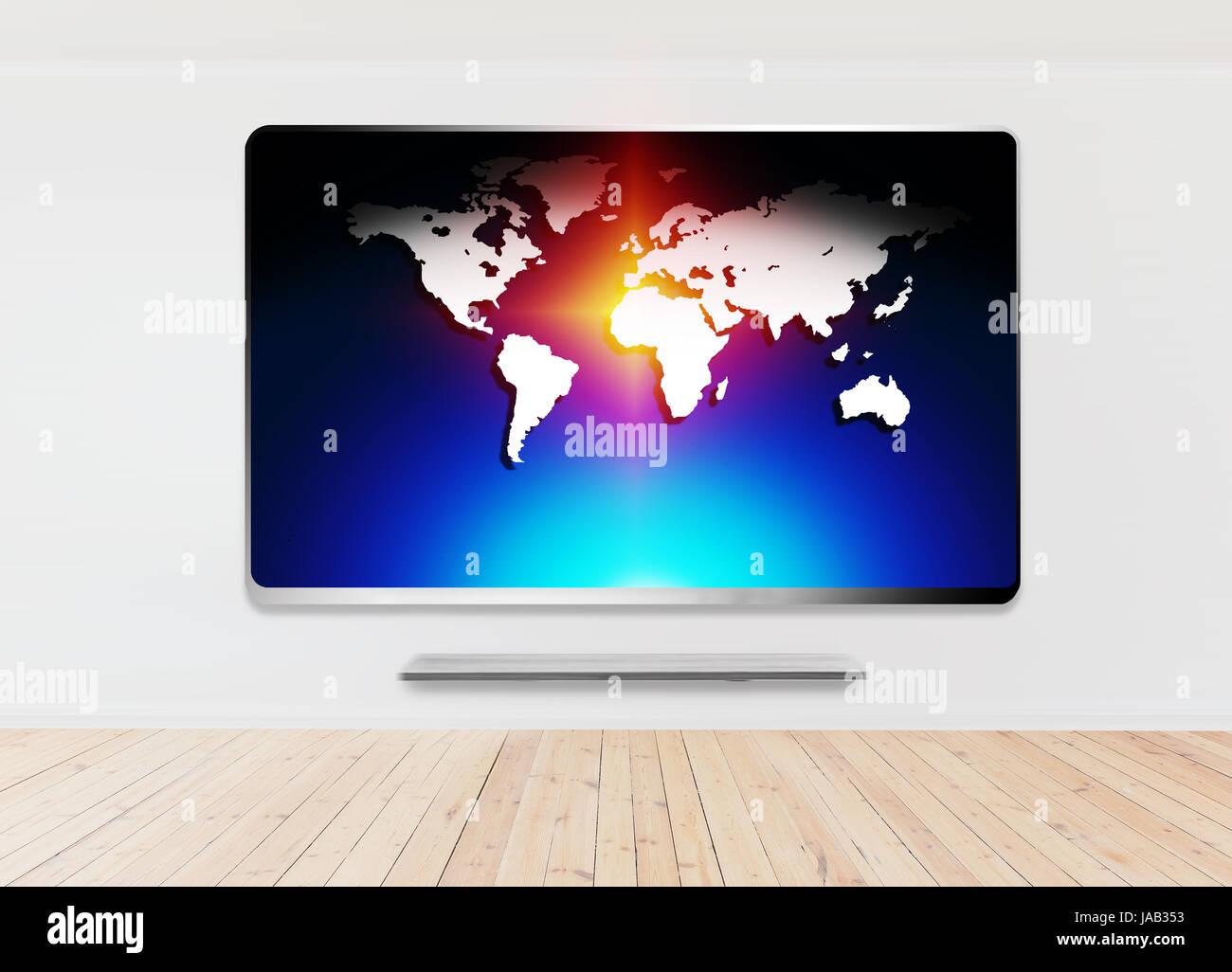 UHD 3d smart tv - Stock Image