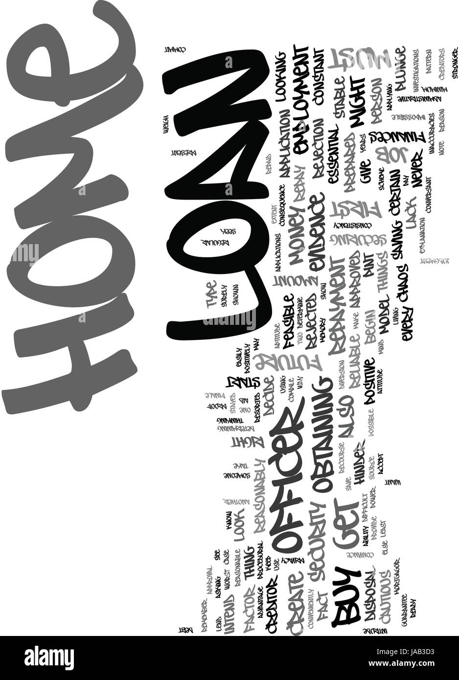 WHAT CAN YOU DO TO GET THE HOME LOAN THAT YOU SEEK FOR TEXT WORD CLOUD CONCEPT Stock Vector