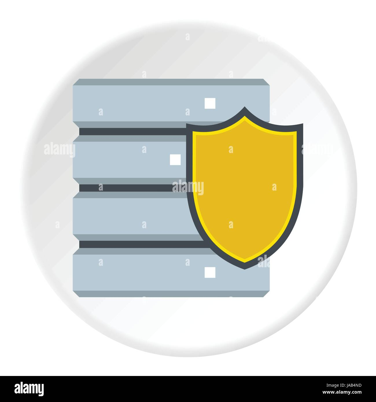 Data security icon. Flat illustration of data security vector icon for web - Stock Image