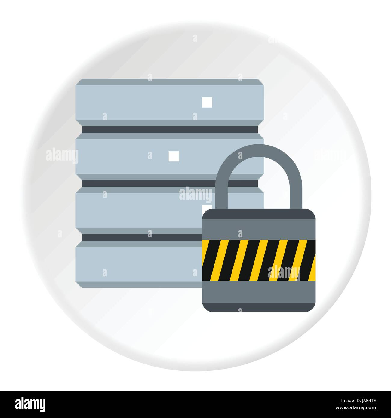 Data protection icon. Flat illustration of data protection vector icon for web - Stock Image