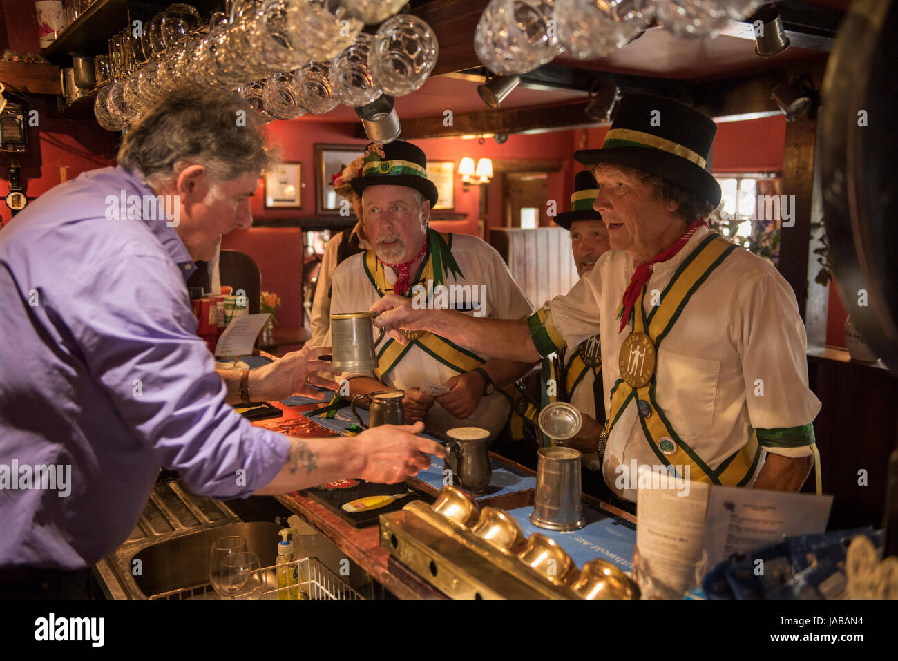Thaxted Morris Weekend 3-4 June 2017 A meeting of member clubs of the Morris Ring celebrating the 90th anniversary - Stock Image
