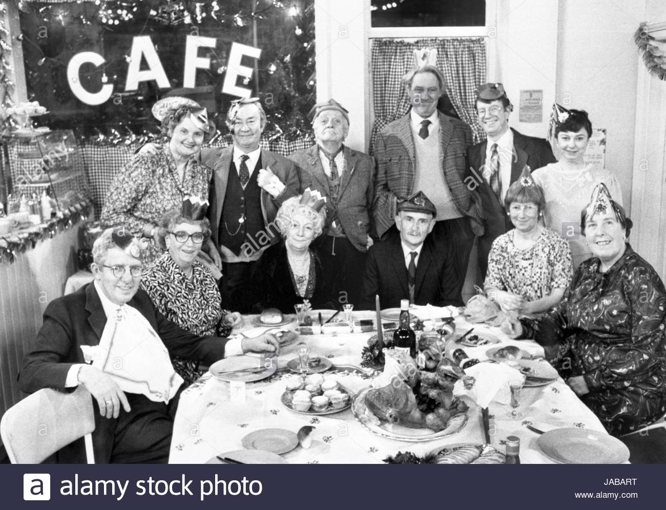 File photo dated 20/12/1989 of 9 of the cast of Last of the Summer Wine in the Christmas special. Back row (l-r): Stock Photo