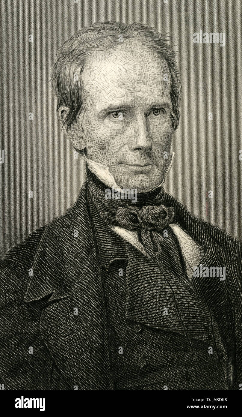 Antique c1860 engraving, Henry Clay. Henry Clay, Sr. (1777-1852) was an American lawyer and planter, statesman, - Stock Image