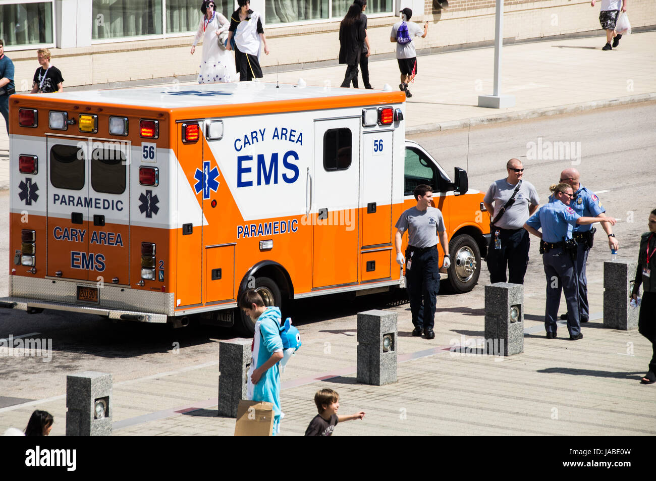 Ambulance At An Anime Convention