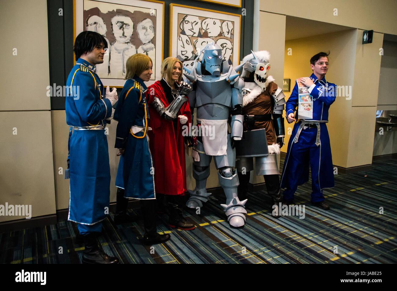 Fullmetal Alchemist cosplayers - Stock Image