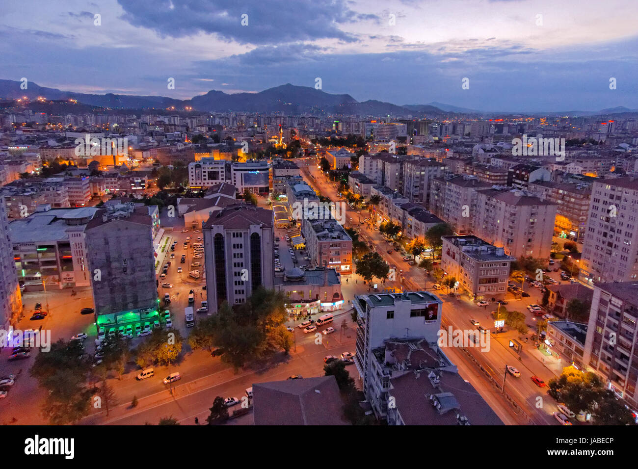 City centre of Kayseri, Kayseri Province, Turkey.A centre for visiting Cappodocia. - Stock Image