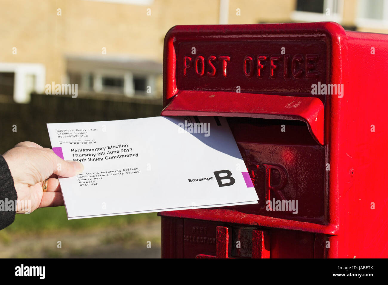Postal voting for the 08 June 2017 UK election - Stock Image