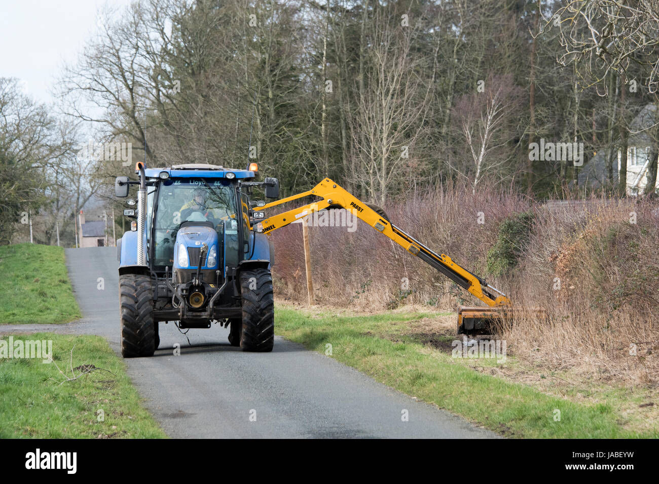 Hedge Cutting Tractor Stock Photos & Hedge Cutting Tractor