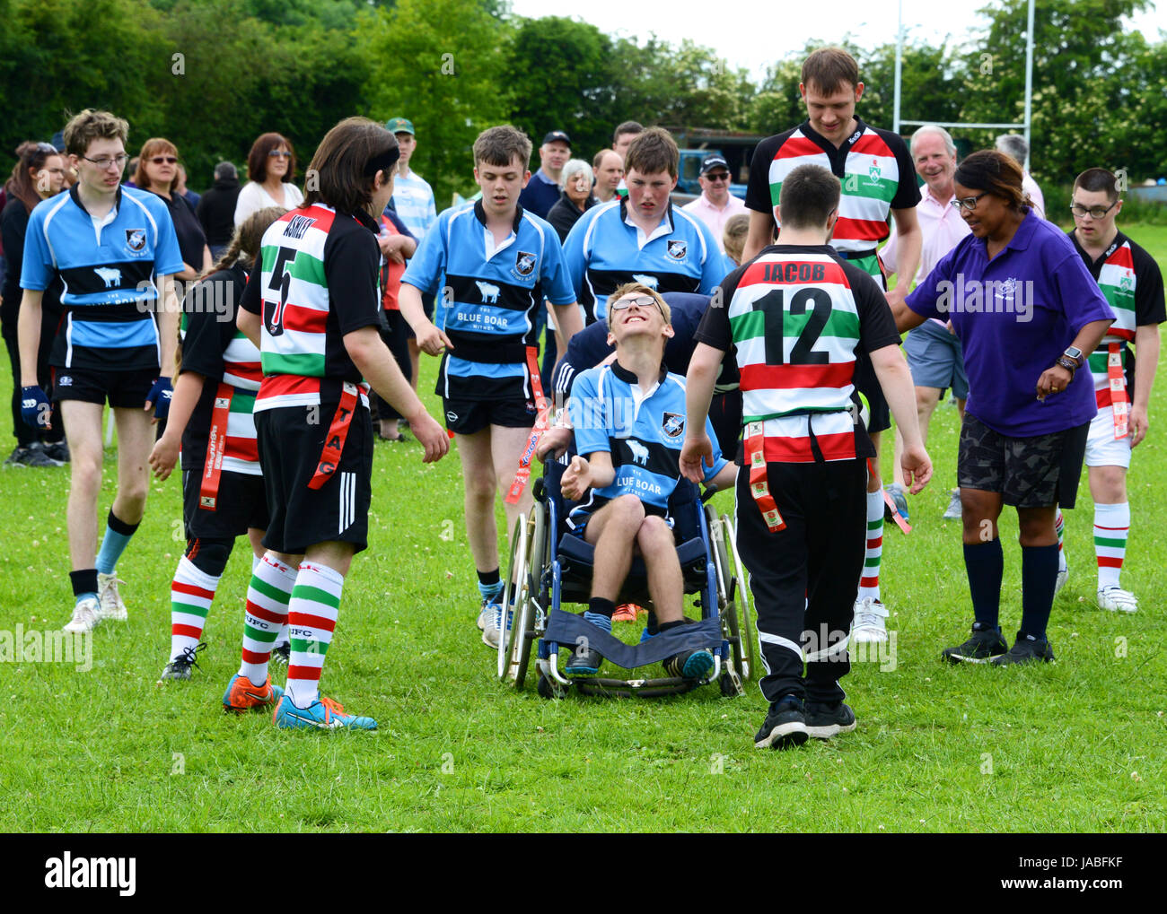 Wooden Spoon International SEN rugby tournament at Witney RFC, Oxfordshire, UK - Stock Image