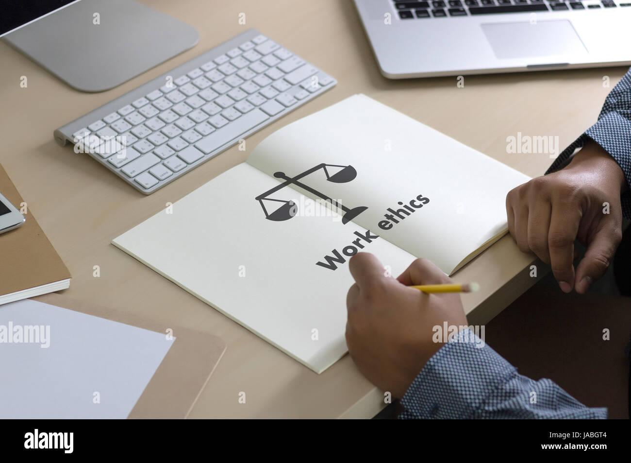 Work ethics Justice Law Order Legal working Professional - Stock Image