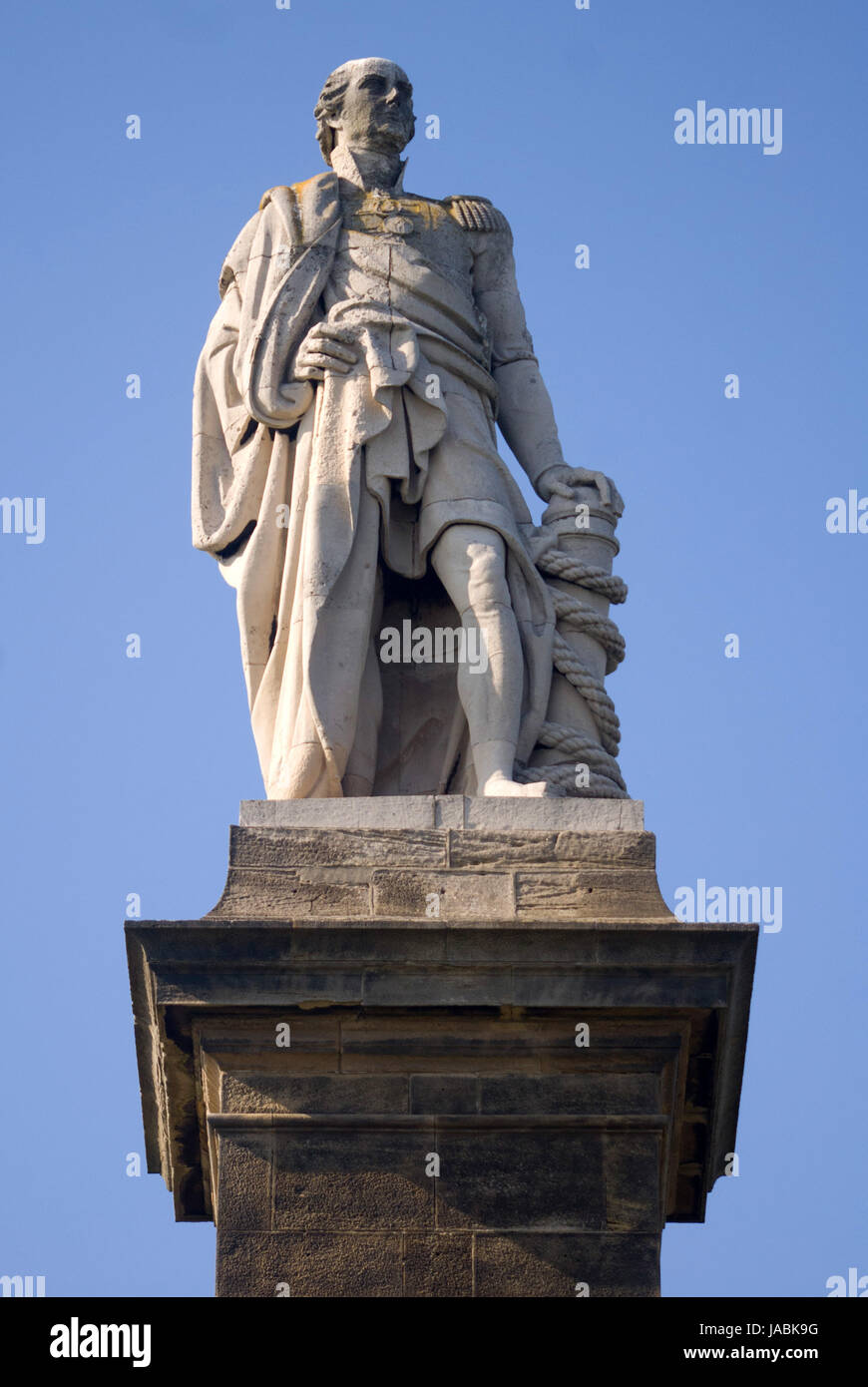 Admiral Lord Collingwood memorial, Tynemouth Stock Photo