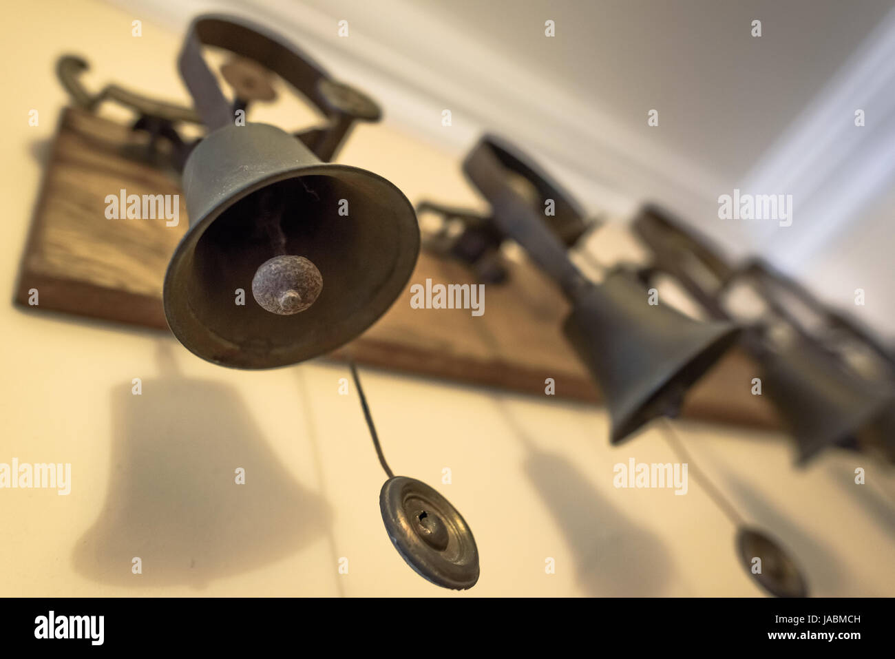 Servant's bells in a large old house. - Stock Image