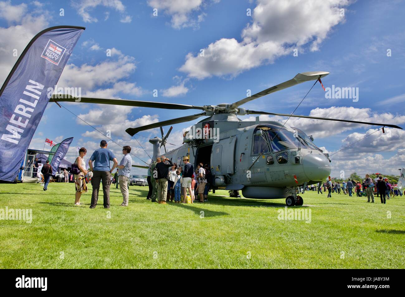AgustaWestland Royal Navy Merlin Helicopter - Stock Image