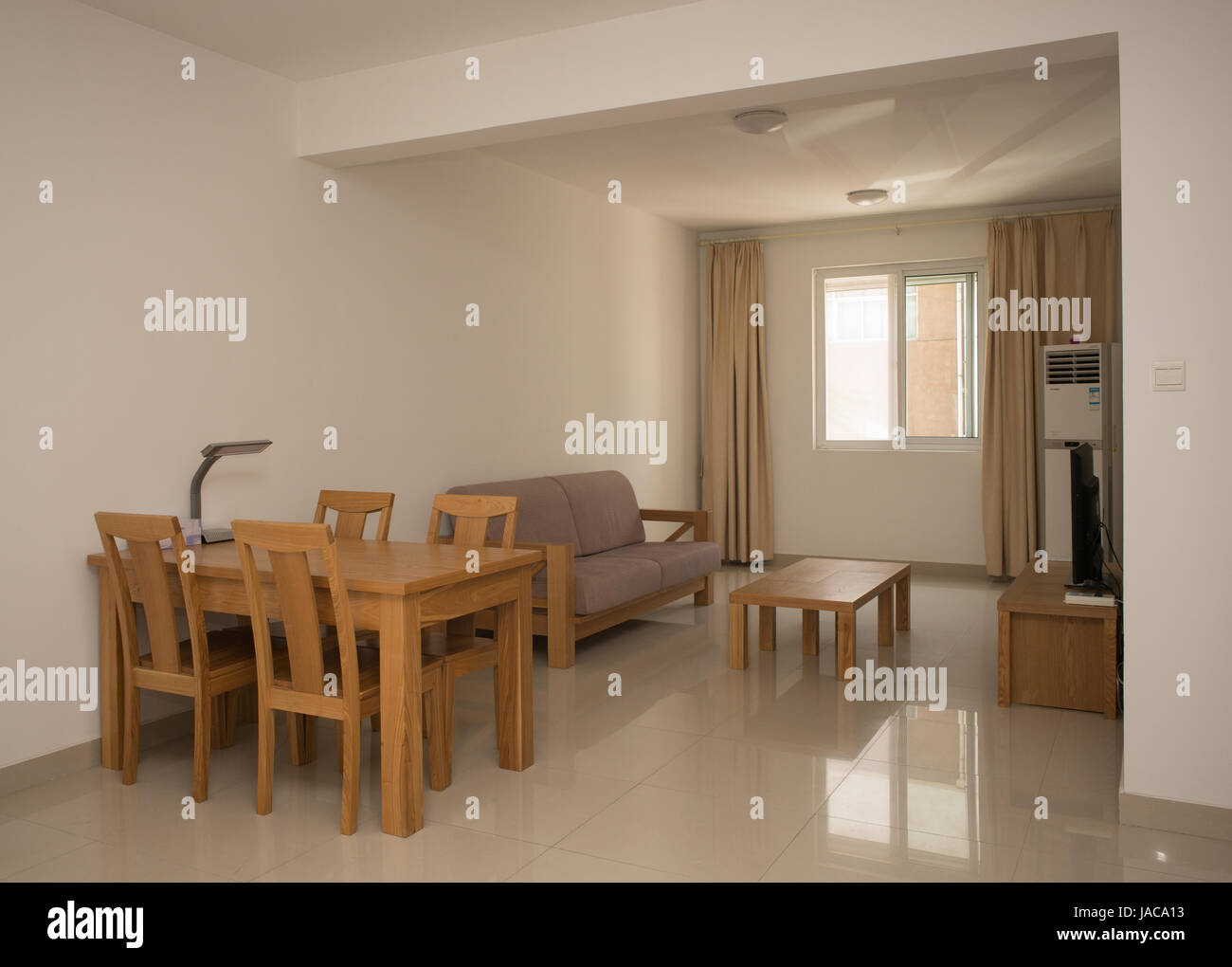 Interior Of Open Plan One Bedroom Apartment Nanjing China Stock Photo Alamy