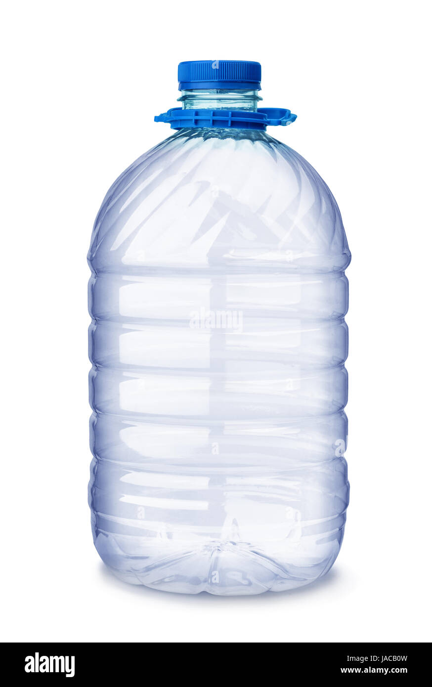 Empty plastic water bottle  isolated on white - Stock Image