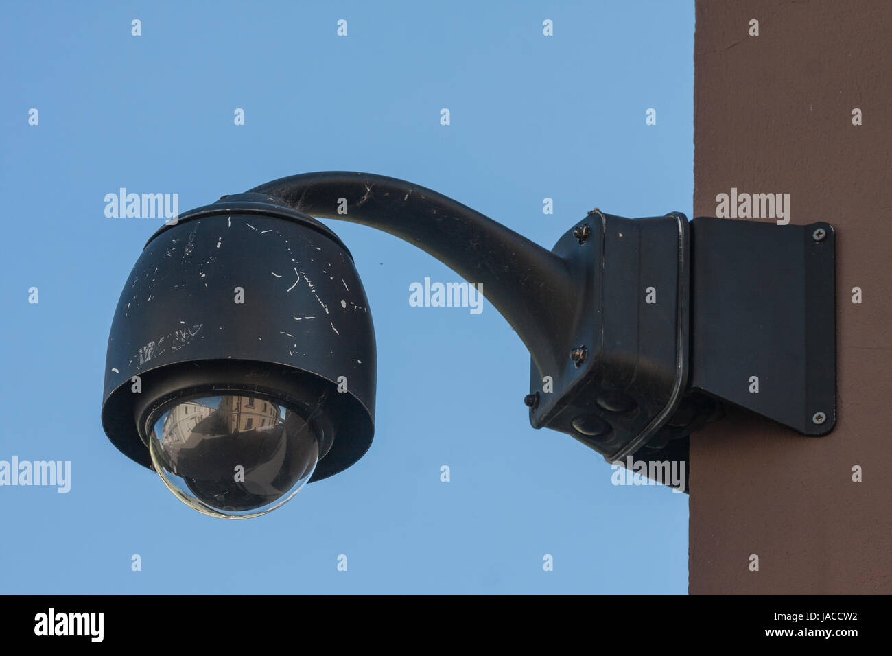 Overhead Surveillance CCTV security camera 360 degree - Stock Image