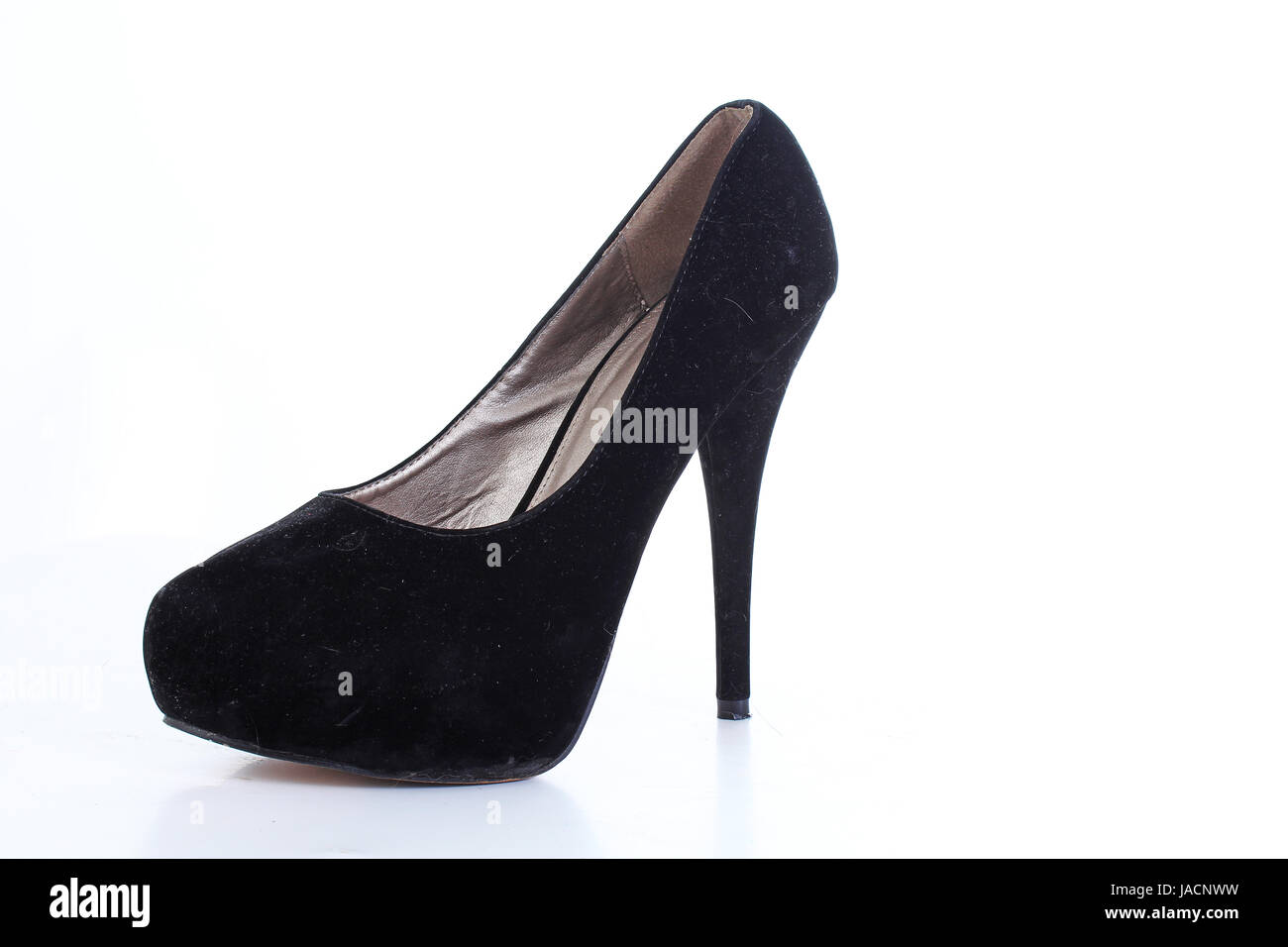 Black woman fashion shoe. High heels. - Stock Image