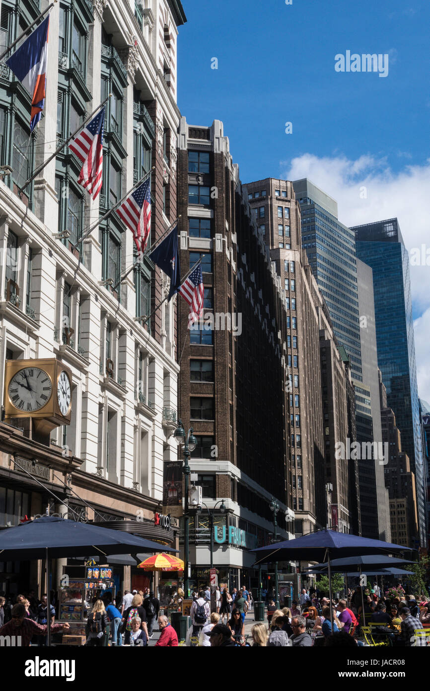 Macy's Department Store at Herald Square, NYC, USA - Stock Image