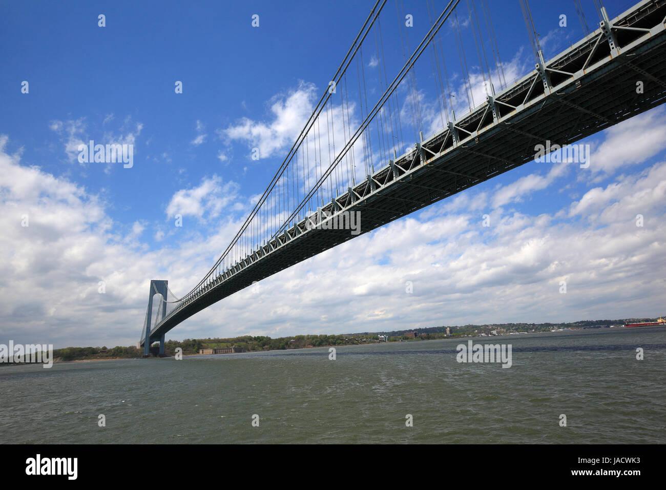 Verrazano-Narrows Bridge in New York City - Stock Image