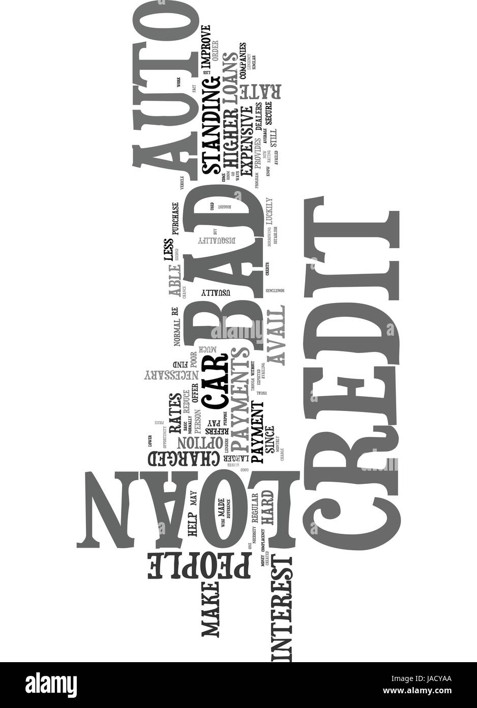 WHAT YOU SHOULD KNOW ABOUT BAD CREDIT AUTO LOAN TEXT WORD