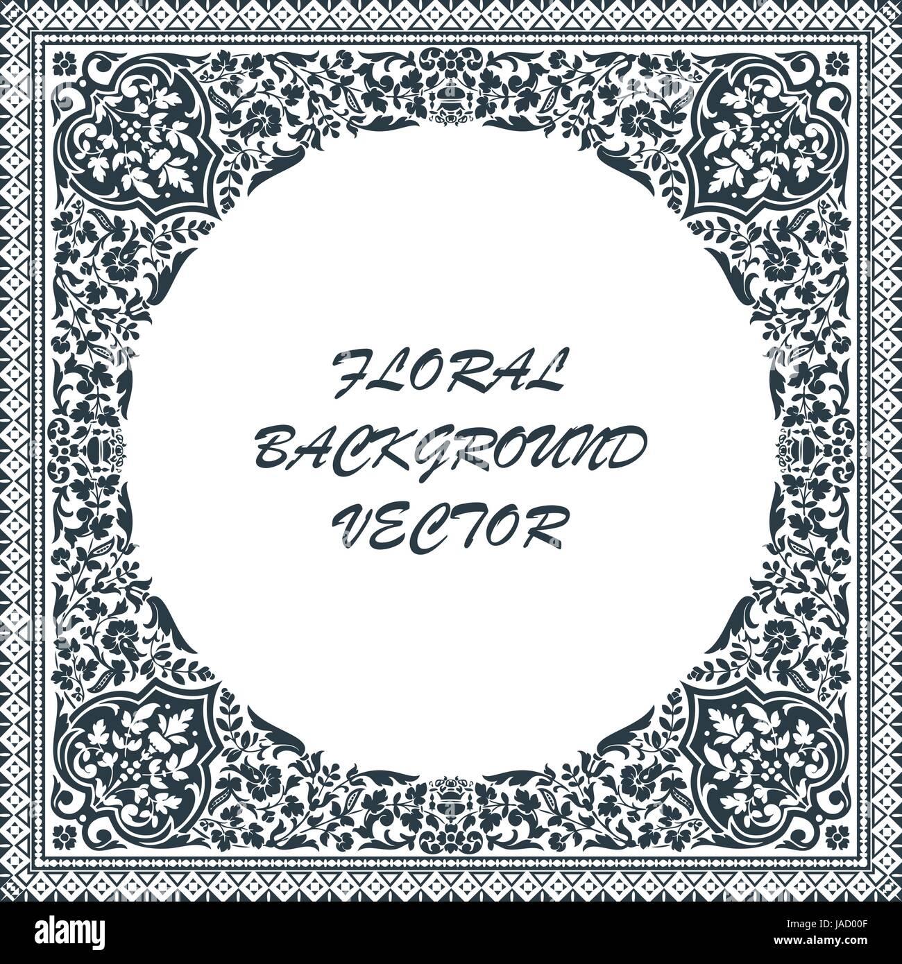 Victorian floral paisley medallion ornamental rug vector. Ethnic ...