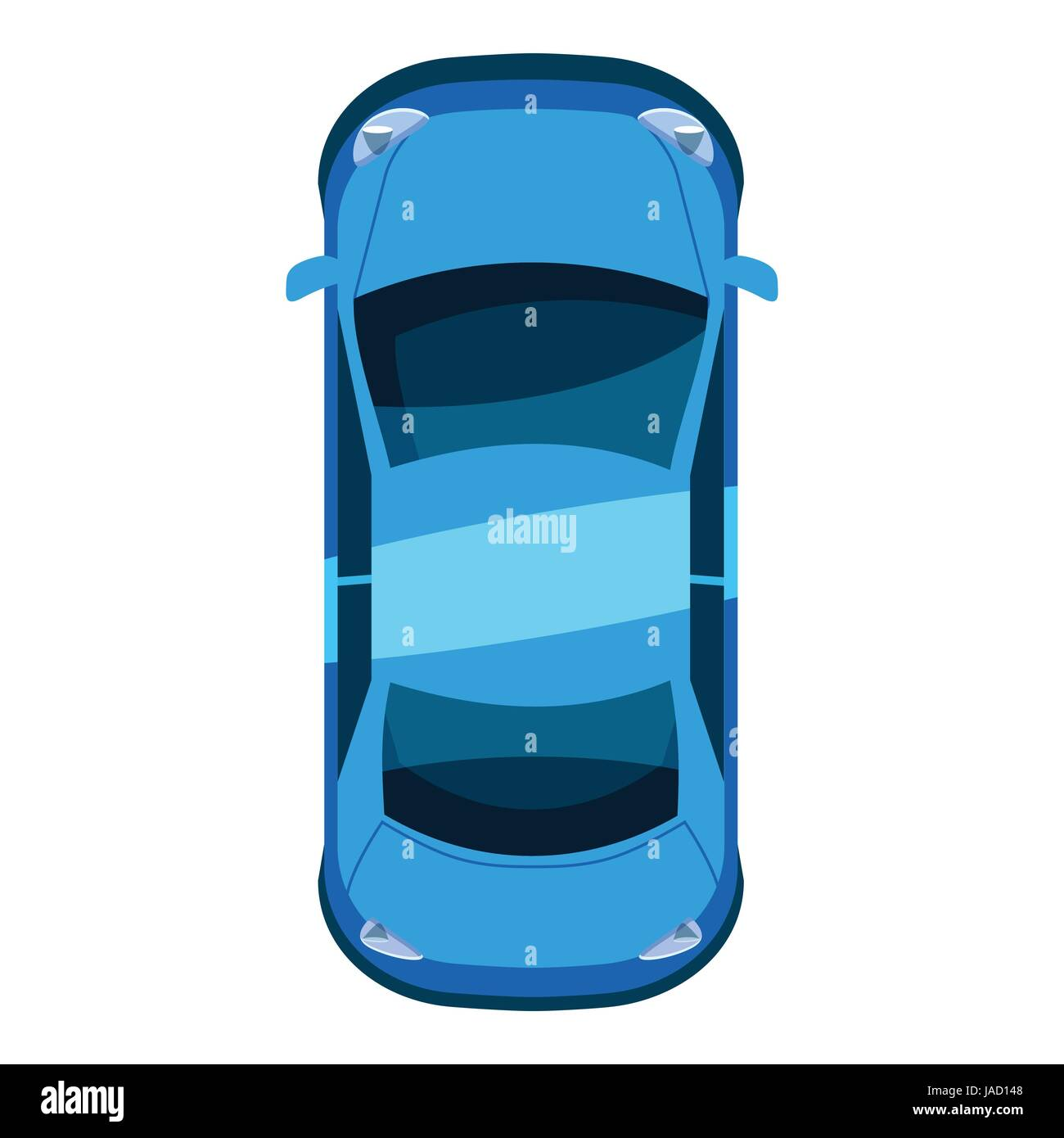Blue Car Top View Icon Isometric 3d Illustration Of Vector Icon For
