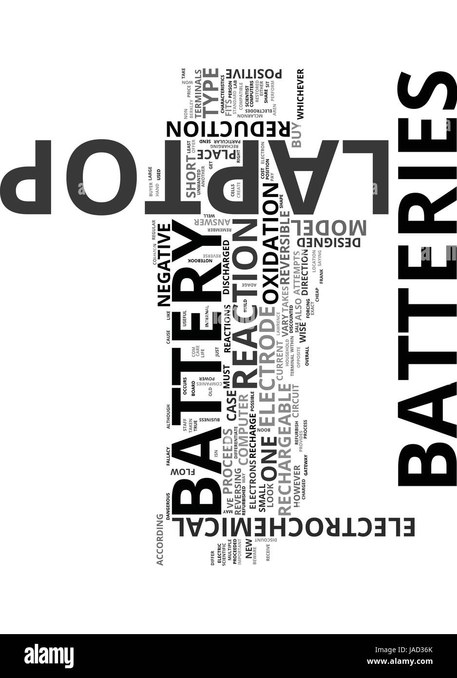 WHICH LAPTOP BATTERY IS RIGHT FOR YOU TEXT WORD CLOUD CONCEPT - Stock Image