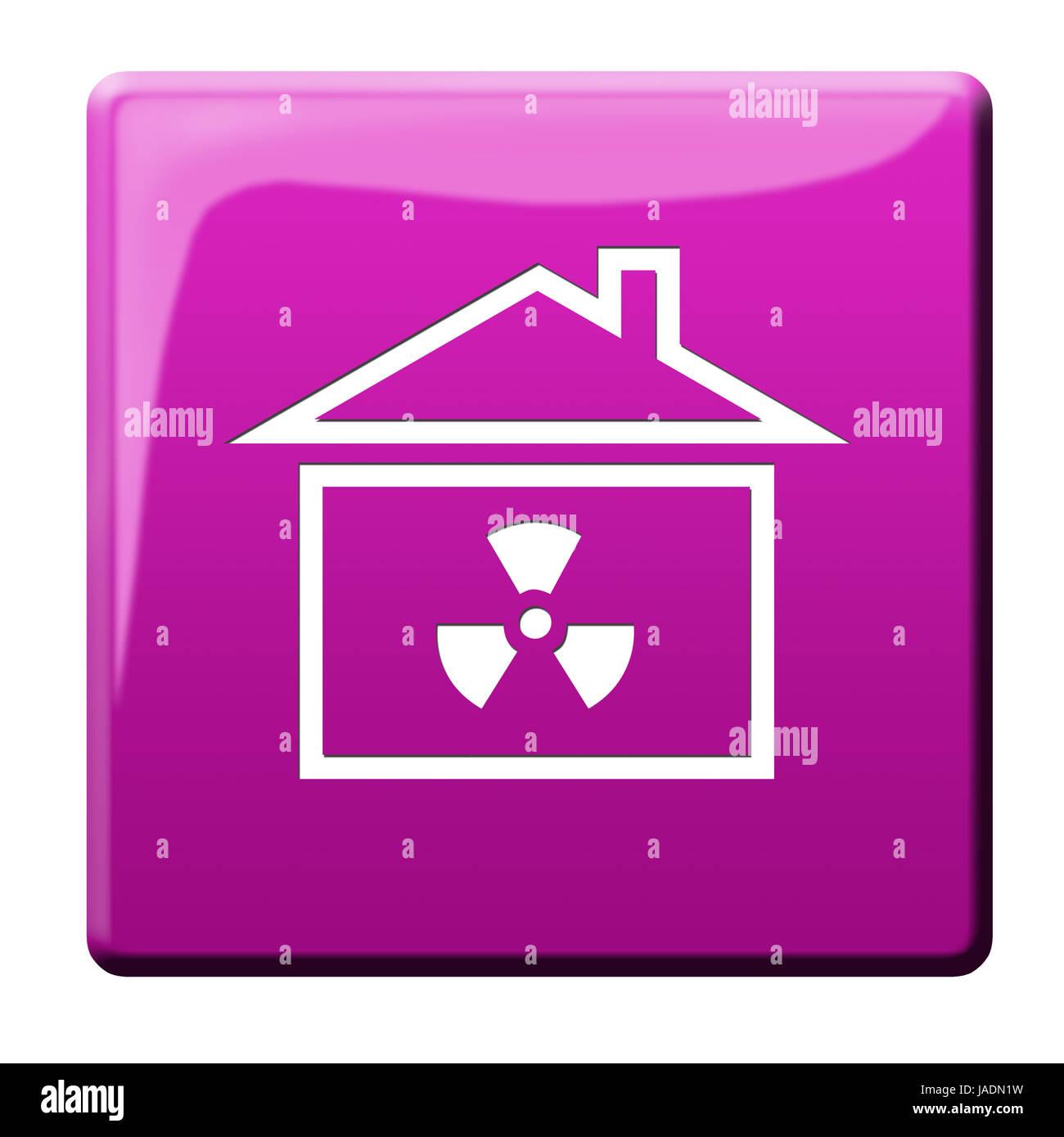 nuclear radiation icon Stock Photo