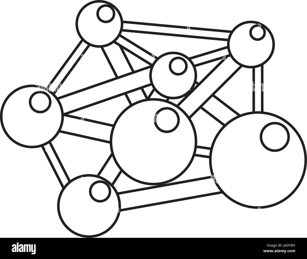 molecule component chemistry - Stock Vector