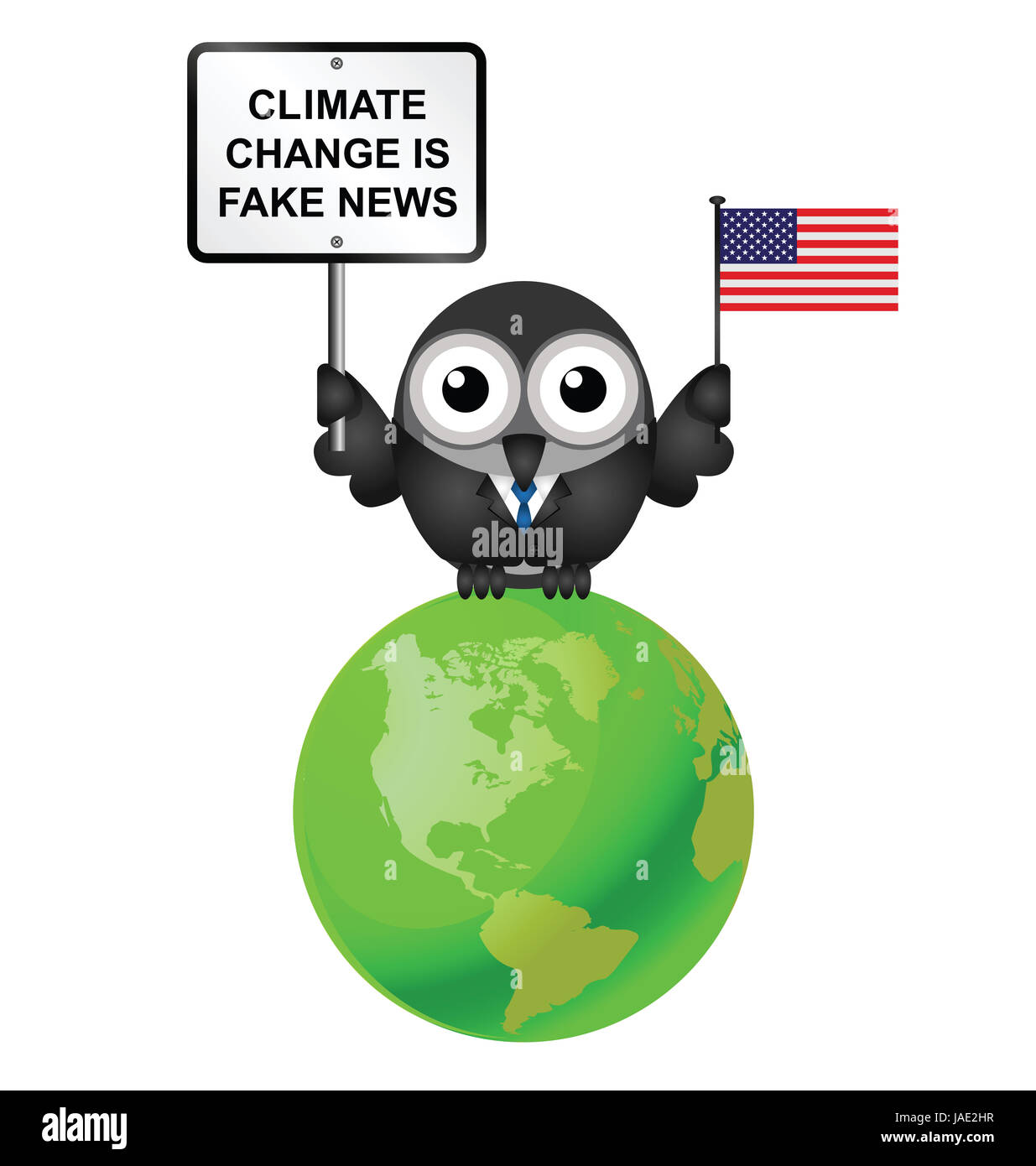 Comical American climate change denial after pulling out of the Paris  Agreement - Stock Image
